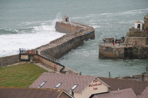 How about navigating this harbour entrance. It's just as well the breakwall stops some of the surge