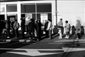 Hundreds of citizens cue outside super markets for food and water rations: by vagabondartist, Views[203]