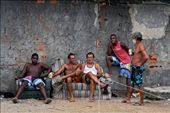 Friends as well as co-workers, these men gather for a beer by the ocean's edge, taking a break from their daily work in Jurujuba – preparing freshly-caught mussels for sale to local restaurants.: by vagabonder, Views[884]