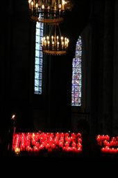 Interior Cathedral Notre Dame de Chartres, with votives: by vagabonds, Views[211]