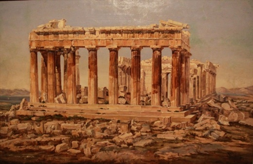 Painting, Parthenon, City Museum of Athens