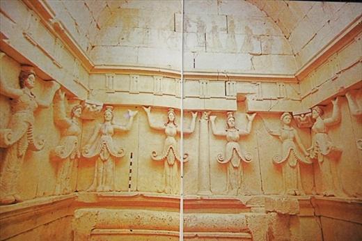 Copy of photo, interior Thracian Tombs of Sveshtari