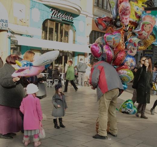 the balloon man, Sarajevo