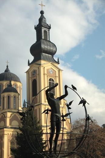 Clock tower and mosque, Sarajevo