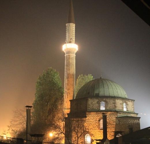 Mosque at night, Sarajevo