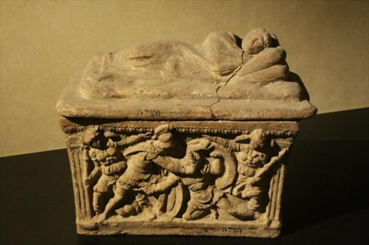 Etruscan casket, Etruscan Museum, Cortona