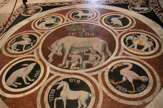 Floor of the Duomo, Siena, took 200 years to complete