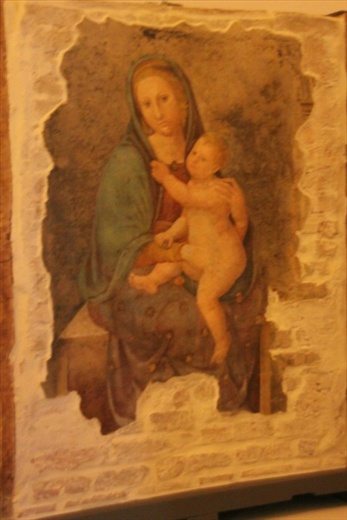Fresco, Madonna and Child, Palazza Ducale, Urbino