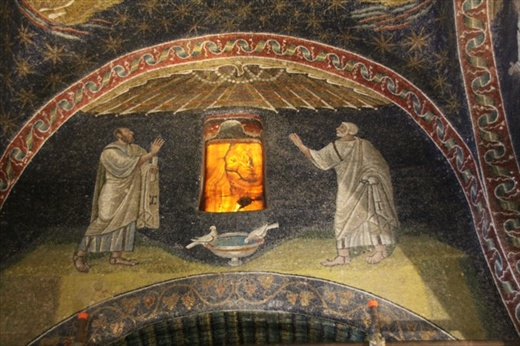 Mosaic and alabaster window, Mausoleum of Gallo Placida, Ravenna