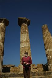 Connie at Temple of Hercules, Valley of the Temples, Agrigento: by vagabonds, Views[389]