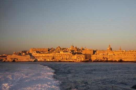 Looking back to Valletta