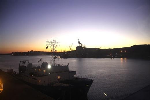 Harbor sunrise, Malta