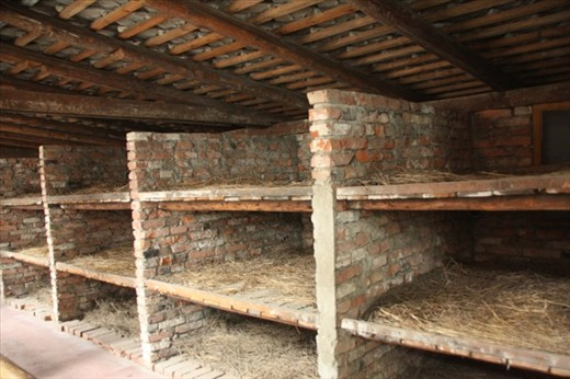 Stone bunks, 8 to a bed