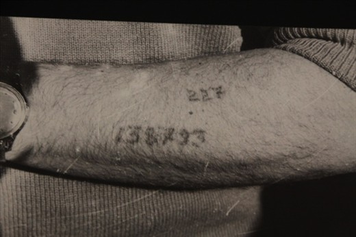 Tattoo ID number, only at Auschwitz