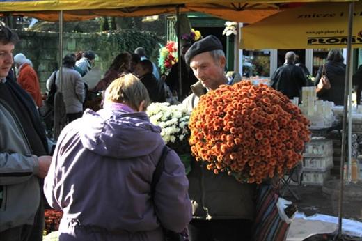Flower sales, All Saints Day