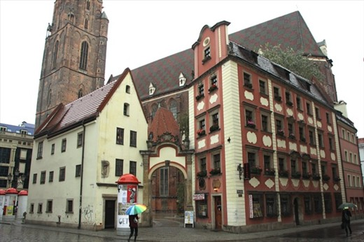 Hansel And Gretel Houses Old Town Wroclaw Silesia
