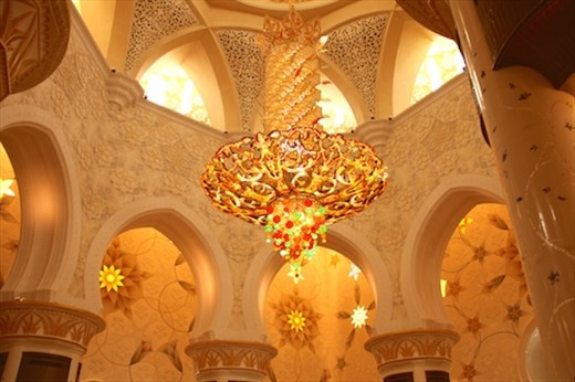 Chandelier, Sheikh Zayad Grand Mosque, Abu Dhabi