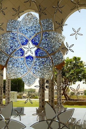 Stained glass, Sheikh Zayad Grand Mosque, Abu Dhabi