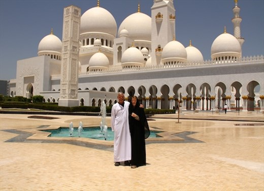 John and Connie, Sheikh Zayad Grand Mosque, Abu Dhabi