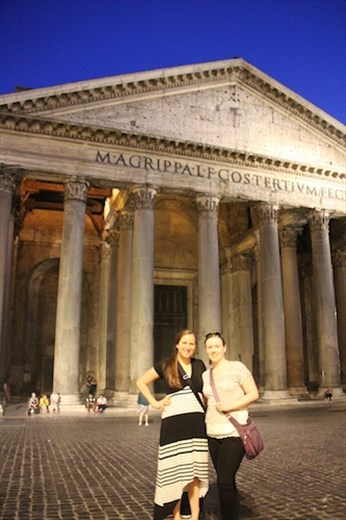 Sisters at the Pantheon