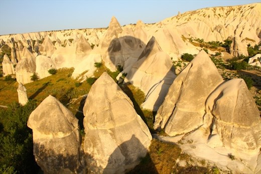 Cappadocia from the air — that's our shadow
