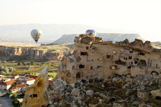 Old cave houses of Urgup, Ballooning Cappadocia