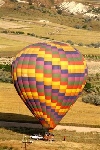 A perfect landing, Ballooning Cappadocia