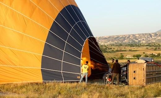 Hot air for our balloon, Cappadocia