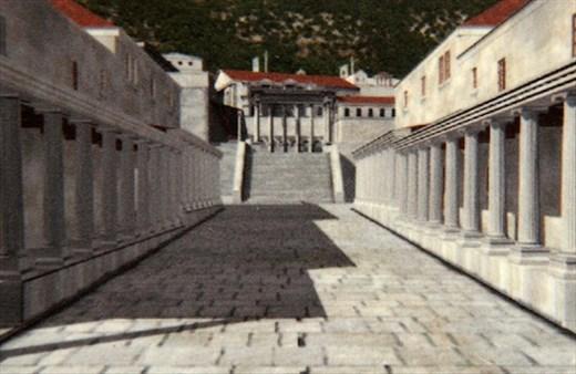 Colonnaded street then, Sagalossos