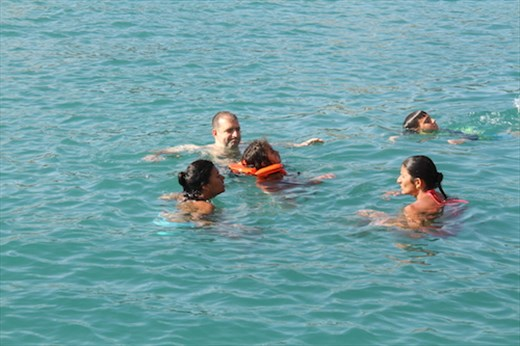 The family that swims together, Kekora Bay