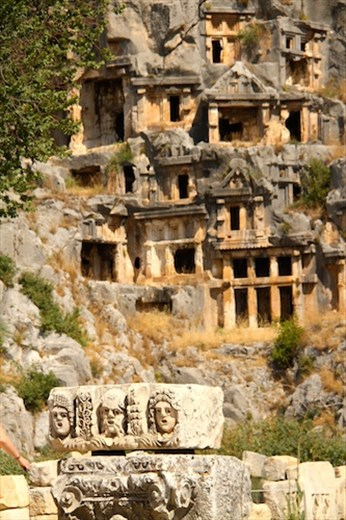Rock cut tombs of Myra