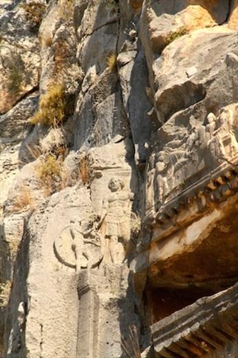 Carvings, Rock cut tombs of Myra