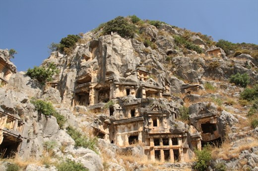 Rock cut tombs of Myra