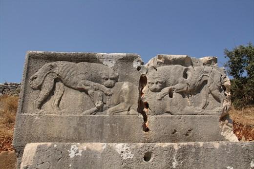 Lion relief, Xanthos