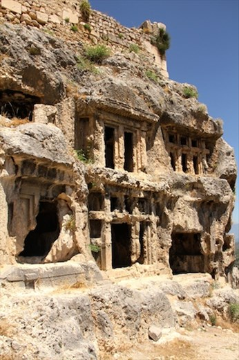 Stone carved tombs, Tlos