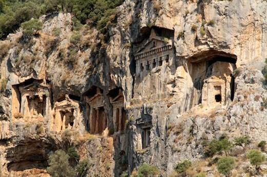 Rock carved tombs of Dalyan