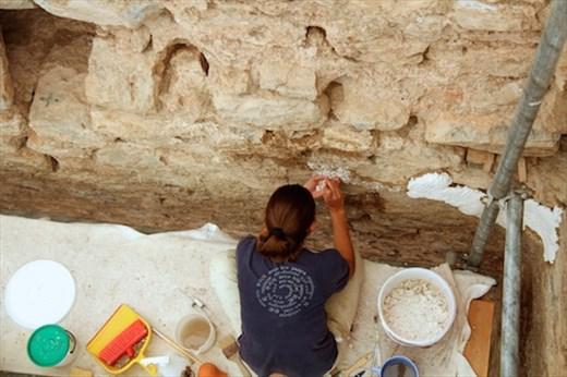 Preparing the walls, Terrace Houses, Ephesus