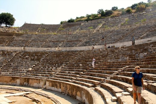 Looking for our seats, theater at Ephesus