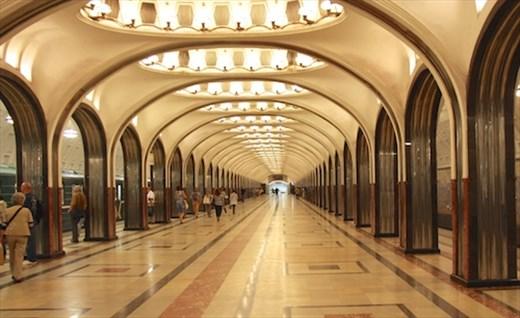 Art deco, Mayakovskaya Metro Station, Moscow