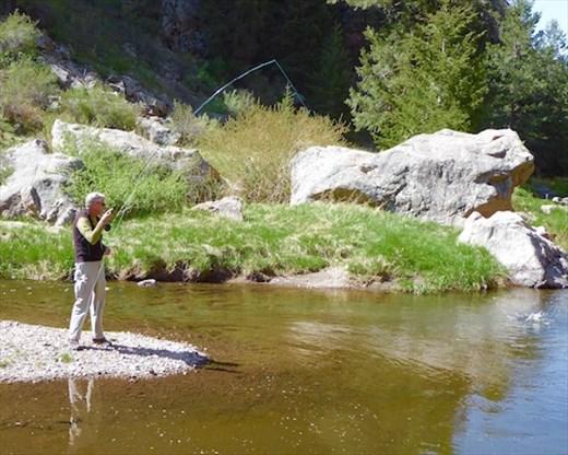 John lands a lunker, Grape Creek