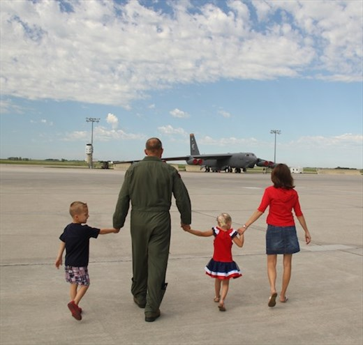 Going to Daddy's office, Minot AFB North Dakota