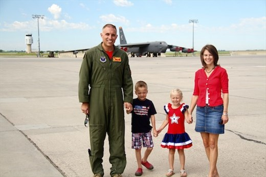 Nephew (Lt. Col.) Mike and family,