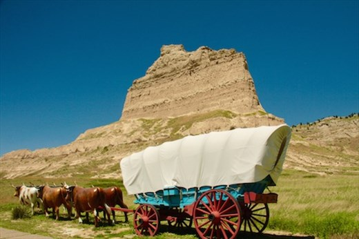 Scottsbluff National Monument on the Oregon Trail