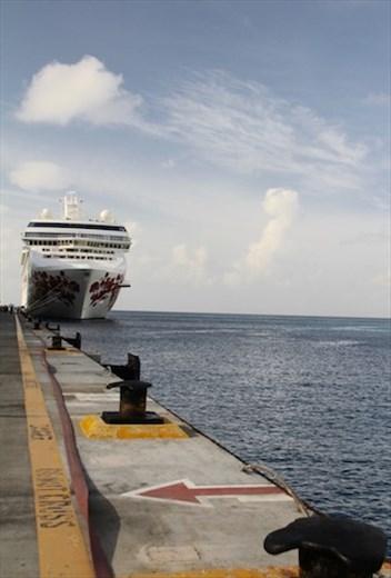 Serenade of the Seas in port, Antigua (maybe)
