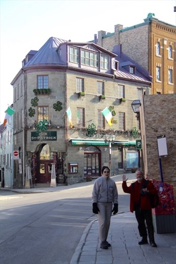 Connie and Chris in Old Town Quebec City