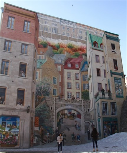 Mural, Old Town Quebec City