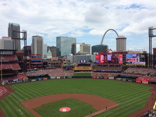 Busch Stadium and the Arch, St.Louis
