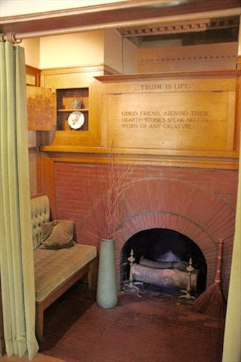 Hearth, the heart of a home, FLW Home