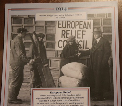 Hoover and European relief, WW I
