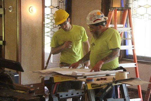 Following FLW's plans, Robie House